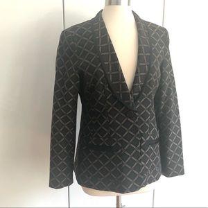 Nanette Lepore size 12 women's black blazer